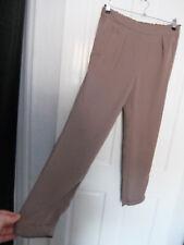 "MANGO ● size M 12 L28"" ● beige brown Xmas trousers womens ladies"