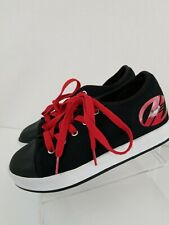 Worn 1X! Heelys X2 Fresh Youth Boys Black And Red 770494 Size 5