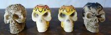 Mini Painted Skulls w/Holes Lot of 4