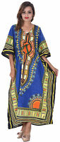 Indian Cotton Cocktail Dress Plus Size Kaftan Hippie Boho Kimono Sleeve Women