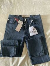 NWT JACOB COHEN 50%SILK 50%COTTON JEANS PANTS 34 TYPE 610 WITH CARRE'