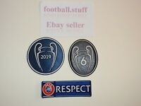 Liverpool 2019 UEFA Champions League Sleeve Patches/Badges NEW FIRMINO SALAH