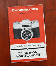 ZEISS CONTAFLEX 126 INSTRUCTION FOLD-OUT, TORN, TAPED UP, INK WRITING/211619