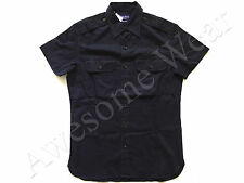 New Ralph Lauren Purple Label Italy Tailored Fit 100% Cotton Navy Blue Shirt L