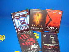 Lote de 5 DVDS terror-CUBE-LOS CHICOS DEL MAIZ-THE RING-PREMONITION-HOUSE OF HAU