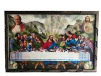 """Ultima Cena Imagen Con El Papa J.Pablo Ii Y San Judas  36""""X24"""""""