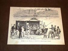 Rarissima veduta di Roma nel 1878 La barca di Ripetta Presente un bersagliere
