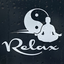 YinG Yang Relax Car Or Laptop Decal Vinyl Sticker For Window Bumper Panel