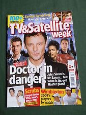 TV & SATELLITE WEEK UK MAGAZINE -23-29 JUNE 2007 -JOHN SIMM - SCRUBS