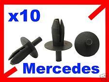 10 Mercedes PASO DE RUEDA Salpicaduras Clip de retención Clips Plástico