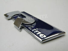 BLUE CHROME R Linea CAR BADGE AUDI A4 A2 A3 A6 RS4 RS6 A8 S4 S6 S8 S R Allure