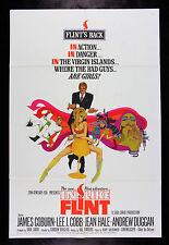 IN LIKE FLINT * CineMasterpieces ORIGINAL MOVIE POSTER BOB PEAK ART 1967