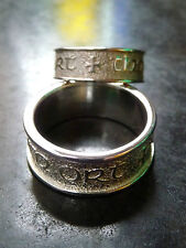 Scottish Ola Gorie Eilean Donan 925 Silver Wedding Dress Ring