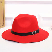 Fashion New Women Classic Jazz Buckle Fedora British Style Outdoor Cap Top Hats
