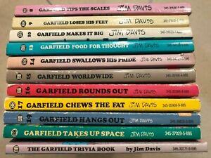 1984-90 Garfield Jim Davis Comic Strip Books 8, 9, 10, 13, 14, 15, 16, 17,19, 20