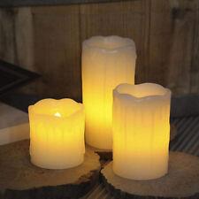 3 candele a batteria in vera cera con luce effetto fiamma tremolante decorative