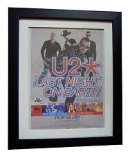 U2+Last Night On Earth+POSTER+AD+RARE ORIGINAL 1997+FRAMED+EXPRESS GLOBAL SHIP
