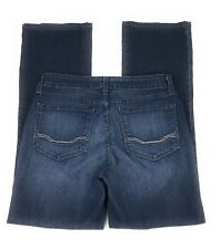 NYDJ Not Your Daughter's Jeans Bootcut Mid Rise Embellished Blue Jeans Women's 8
