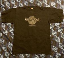 Hard Rock Cafe Stockholm Sweden T Shirt XL Vtg 90s