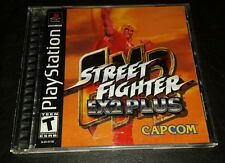 Street Fighter EX2 Plus ps1 ps2 ps3 - USA version cib w form rare oop htf capcom