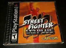 Street Fighter EX2 Plus ps1 ps2 ps3 - USA version cib w form rare oop htf capcom