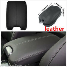For 2008-2012 Honda Accord Black Genuin Leather Centre Console Lid Armrest Cover