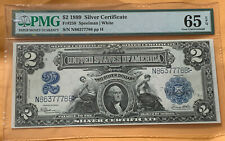 1899 $2 Silver Certificate FR-258  -Mini Porthole- Graded PMG 65 EPQ Rare Beau