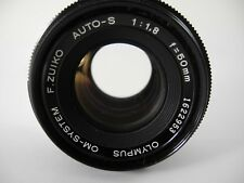 OLYMPUS OM SERIES 50/1.8 AUTO-S ZUIKO LENS PERFECT GLASS GREAT SHARP COMPACT