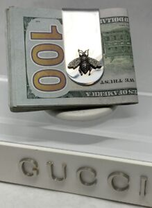 Gucci Honey Bee Money Clip Sterling Silver with Tag