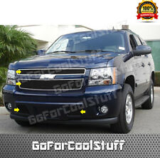 For 2007- 2012 2013 Chevy Avalanche/Tahoe/Suburban Combo Black Billet Grille Set