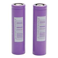 2pcs IMR 18650 3100mAh 3.7V High Drain 25A Rechargeable Battery Purple