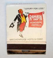 Rare Vintage Ramada Inn Roadside Hotels Matchbook