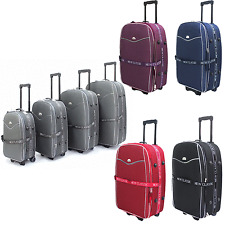 Ryanair 2 Wheel Expandable Cabin Hand Luggage Suitcase SingleTrolley Case Bag UK