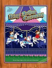 "TIN SIGN Walt Disney ""King Arthur Carrousel"" Vintage Ride Art Poster"