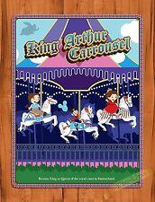 "Walt Disney ""King Arthur Carrousel"" Vintage Ride Art Poster TIN SIGN"