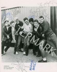 MADNESS BAND SIGNED 10X8 PHOTO, GREAT STUDIO SHOT IMAGE, LOOKS AWESOME FRAMED