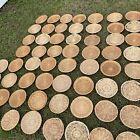Lot Of 60 Round Boho Farmhouse VTG Woven Wicker Rattan Wall Baskets Trays Decor
