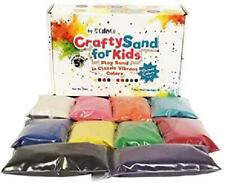 CuteyCo Crafty Sand for Kids - 10 Colors: 3 lbs of Vibrant Craft Sand Play San