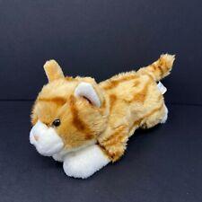 Animal Alley Orange White Striped Tabby Kitten Cat Plush Amber Eyes Realistic