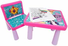 Kids Tavolo e Sedia Set My Little Pony Arte scrivania attività Colore Ragazze Regalo Divertente