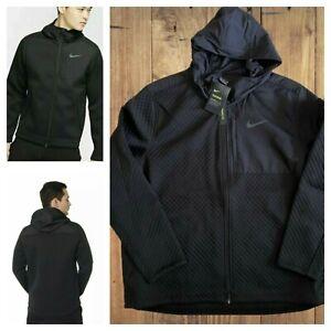 Msrp $195 Nike Men's Sz 4XL Therma Full-Zip Hooded Training Jacket Black