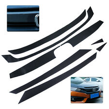 Carbon Fiber Car Auto Bumper Grille Protector Stickers Fit for Honda Civic 2016