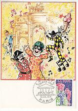 CARTE MAXIMUM FDC 1976 TIMBRE N° 1888 LA FETE
