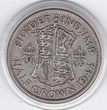 1944   King  George  VI   Half  Crown  (2/6d) -  Silver  Coin