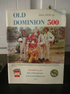 1977 OLD DOMINION MARTINSVILLE  RACING PROGRAM AS IS