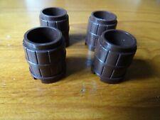 Brique lego manquant 2489 OldBrown x 4 Baril 2 x 2 x 2