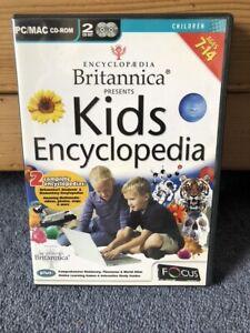 Britannica Kids Encyclopedia PC / MAC CD - ROM (2005), Ages 7-14yrs
