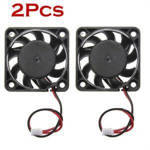 2PCS 5V Mini Cooling Computer Fan - Small 40mm x 10mm DC Brushless 2-pin