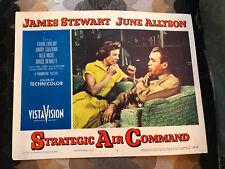 Strategic Air Command 1955 Paramount lobby card James Stewart June Allyson