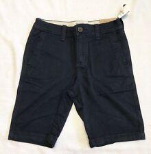 Boys Abercrombie Kids Navy Blue Chino Shorts Sz 11/12 NWT!!!